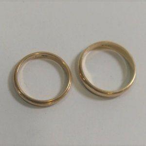 2 14KT Gold Engagement/Wedding Bands